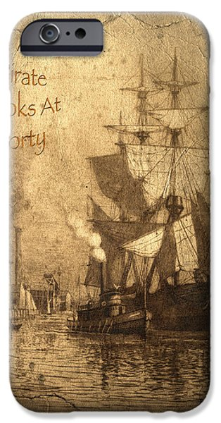 A Pirate Looks At Forty iPhone Case by John Stephens