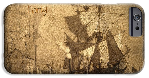 Pirate Ship iPhone Cases - A Pirate Looks At Forty iPhone Case by John Stephens