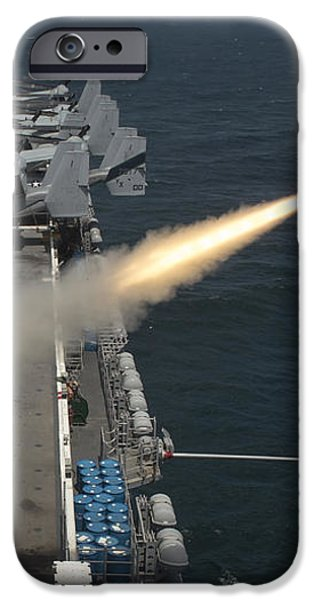 A Rim-7 Sea Sparrow Missile Is Launched iPhone Case by Stocktrek Images