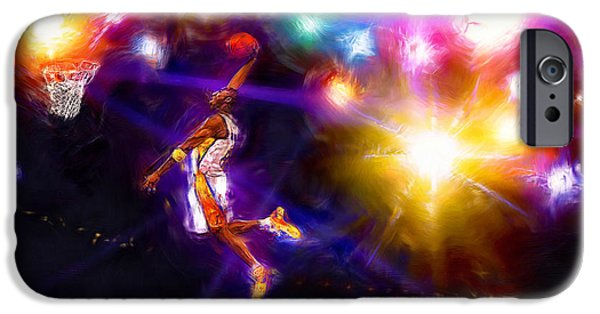 Kobe Mixed Media iPhone Cases - A Star Is Born iPhone Case by Alan Greene