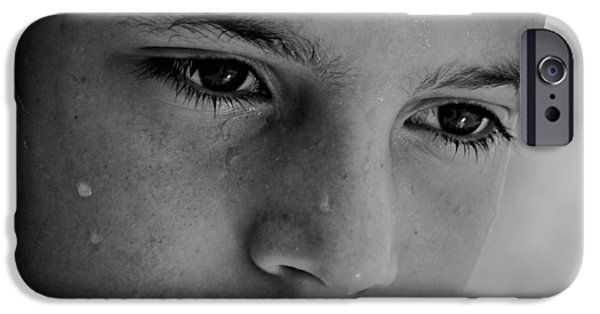 Sweating iPhone Cases - A Thoughtful Young Man iPhone Case by Mountain Dreams