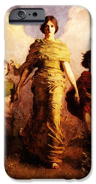 Abbott Handerson Thayer iPhone Cases - A Virgin iPhone Case by Celestial Images