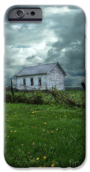 Abandoned Building in a Storm iPhone Case by Jill Battaglia