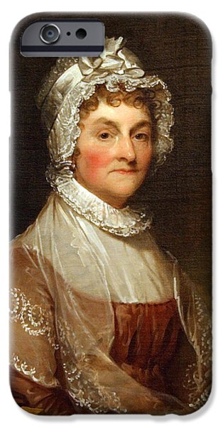 Recently Sold -  - Cora Wandel iPhone Cases - Abigail Smith Adams By Gilbert Stuart iPhone Case by Cora Wandel