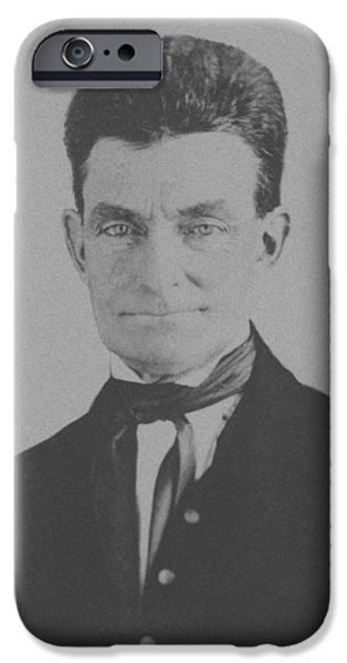 Martyr iPhone Cases - Abolitionist John Brown iPhone Case by War Is Hell Store