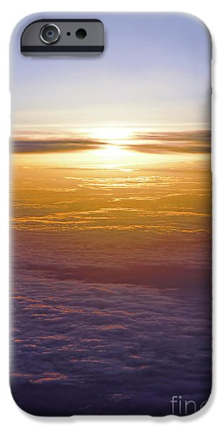 Flight iPhone Cases - Above the clouds iPhone Case by Elena Elisseeva