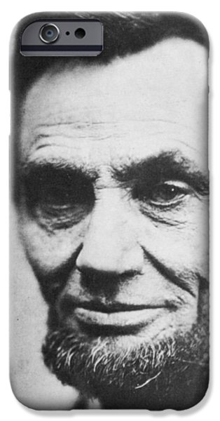 Politician Photographs iPhone Cases - Abraham Lincoln iPhone Case by Anonymous