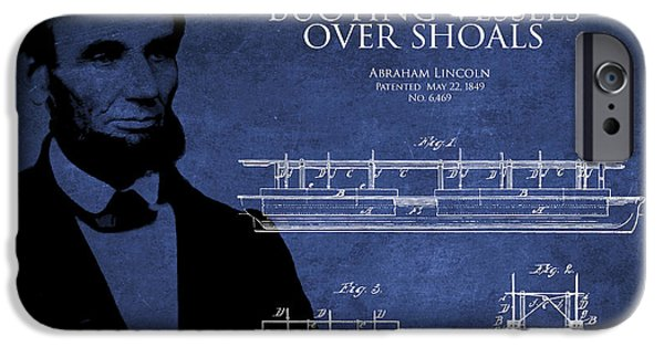 Lincoln Digital Art iPhone Cases - Abraham Lincoln Patent from 1849 iPhone Case by Aged Pixel