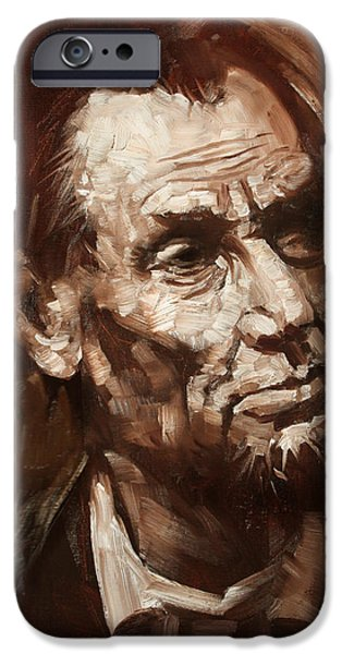 President iPhone Cases - Abraham Lincoln iPhone Case by Ylli Haruni