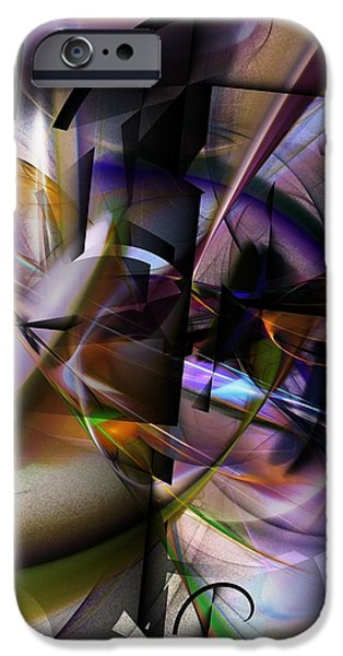 Abstract Digital iPhone Cases - Abstract 062913 iPhone Case by David Lane