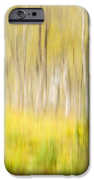 Abstract forest scenery  iPhone Case by Gry Thunes
