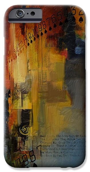 Virgo iPhone Cases - Abstract Tarot Art 013 iPhone Case by Corporate Art Task Force