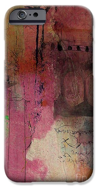 Backgrounds iPhone Cases - Abstract Wall Art iPhone Case by Marvin Blaine