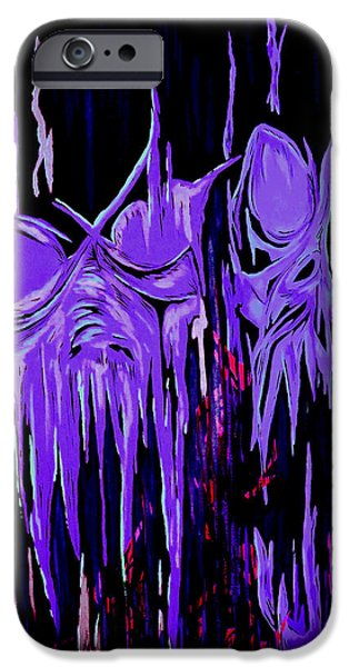 Kundalini iPhone Cases - Abstraction of Malicious Intent iPhone Case by Steve Hartwell