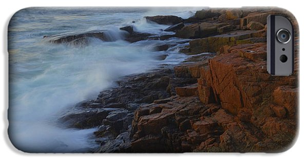 Maine Seacoast iPhone Cases - Acadia Dawn iPhone Case by Stephen  Vecchiotti