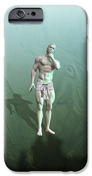 Muscular Digital iPhone Cases - Adam synthetic iPhone Case by Joaquin Abella