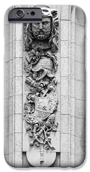 Bas Relief Reliefs iPhone Cases - Adolphus Hotel Architectural Detail - Dallas Texas iPhone Case by Mountain Dreams