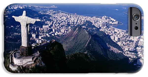 Figures iPhone Cases - Aerial, Rio De Janeiro, Brazil iPhone Case by Panoramic Images
