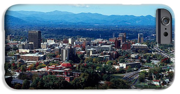 Asheville iPhone Cases - Aerial View Of A City, Asheville iPhone Case by Panoramic Images