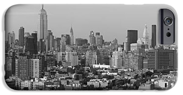 Aerial View iPhone Cases - Aerial View Of A City, Manhattan, New iPhone Case by Panoramic Images