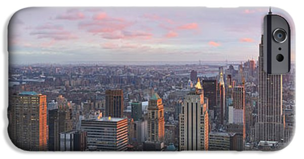 Aerial View iPhone Cases - Aerial View Of A City, Midtown iPhone Case by Panoramic Images
