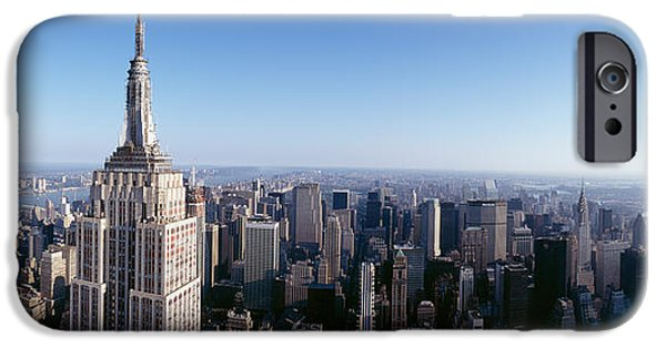Empire State iPhone Cases - Aerial View Of A Cityscape, Empire iPhone Case by Panoramic Images