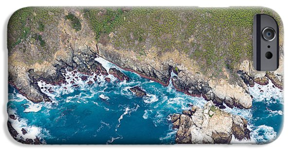 Big Sur Beach iPhone Cases - Aerial View Of A Coast, Big Sur iPhone Case by Panoramic Images