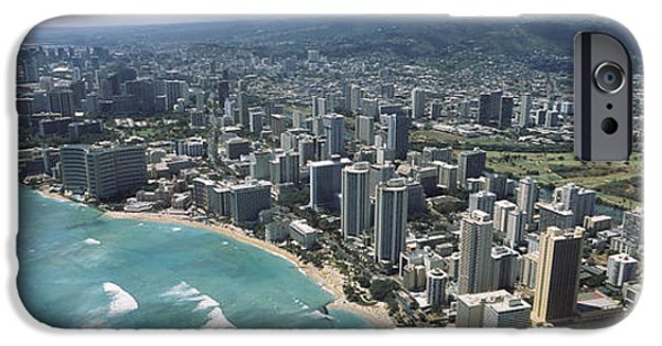 Built Structure iPhone Cases - Aerial View Of Buildings iPhone Case by Panoramic Images
