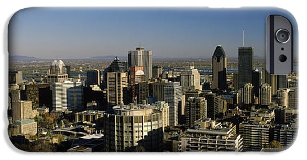 Built Structure iPhone Cases - Aerial View Of Skyscrapers In A City iPhone Case by Panoramic Images