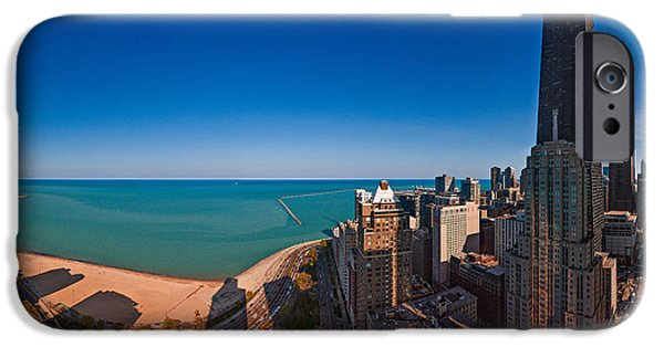 Lake Shore Drive iPhone Cases - Aerial View Of The Lake Shore Drive iPhone Case by Panoramic Images
