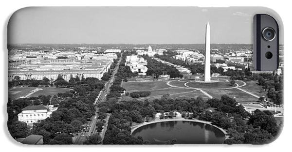 D.c. iPhone Cases - Aerial View of the National Mall  - Washington D.C. iPhone Case by Mountain Dreams