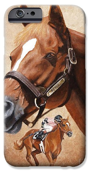 Horse Racing iPhone Cases - Affirmed iPhone Case by Pat DeLong