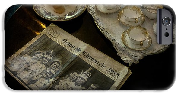 Newspaper iPhone Cases - Afternoon Tea iPhone Case by Adrian Evans