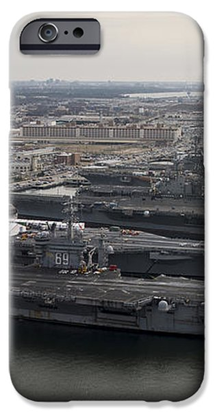 Aircraft Carriers In Port At Naval iPhone Case by Stocktrek Images