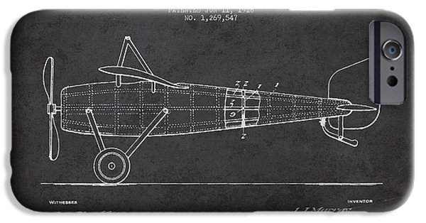 Flight iPhone Cases - Airplane Patent Drawing from 1918 iPhone Case by Aged Pixel