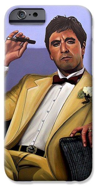 Al Pacino iPhone Cases - Al Pacino iPhone Case by Paul Meijering