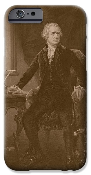Recently Sold -  - Politician iPhone Cases - Alexander Hamilton iPhone Case by War Is Hell Store