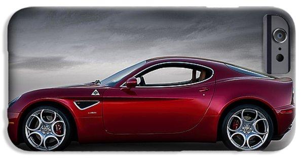 Alfa Romeo iPhone Cases - Alfa 8C iPhone Case by Douglas Pittman