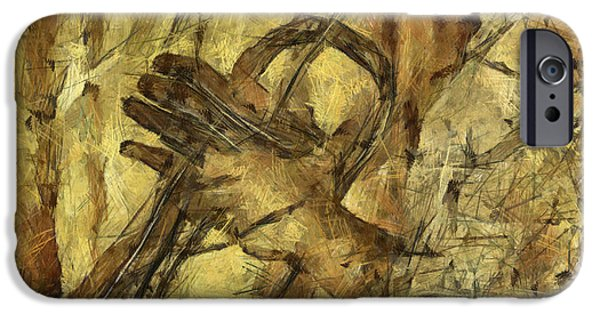 Concept Mixed Media iPhone Cases - All That Jazz iPhone Case by Michal Boubin
