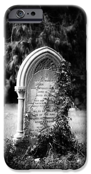 Cemetary iPhone Cases - Alone iPhone Case by Roy Pedersen