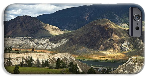 Pastureland iPhone Cases - Along The River  iPhone Case by Theresa Tahara