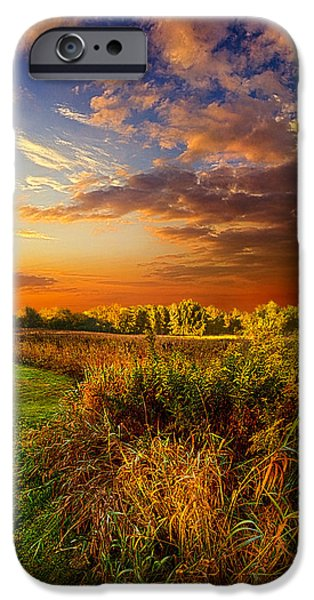Morning iPhone Cases - Along The Way iPhone Case by Phil Koch