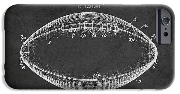 Technical iPhone Cases - American Football Patent Drawing from 1939 iPhone Case by Aged Pixel