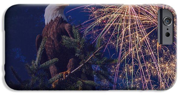 July 4th iPhone Cases - American Pride iPhone Case by Angie Vogel