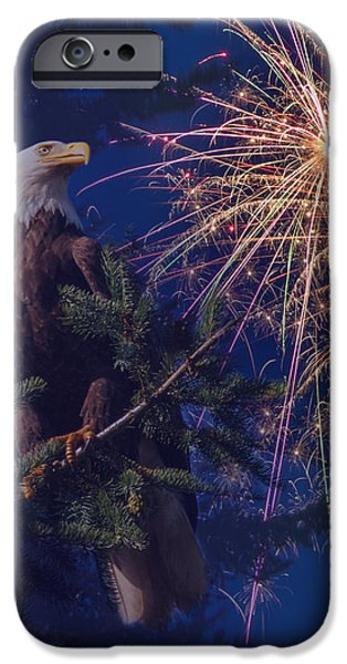 American Pride iPhone Case by Angie Vogel
