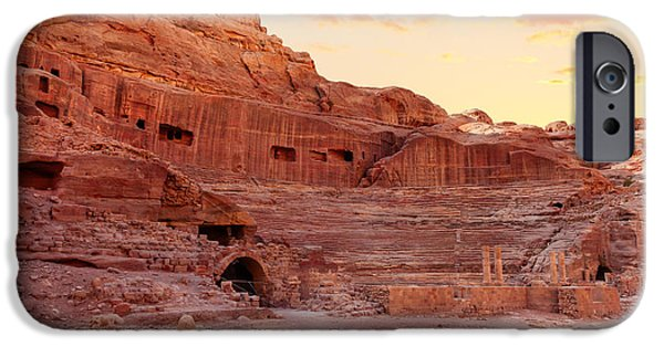 Jordan iPhone Cases - Amphitheater in Petra iPhone Case by Alexey Stiop