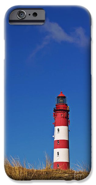 North Sea iPhone Cases - Amrum Lighthouse iPhone Case by Angela Doelling AD DESIGN Photo and PhotoArt