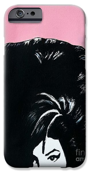 Modernism Mixed Media iPhone Cases - Amy Winehouse iPhone Case by Venus