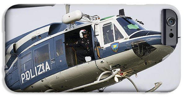 Law Enforcement iPhone Cases - An Agusta Bell 212 Of Italys State iPhone Case by Luca Nicolotti