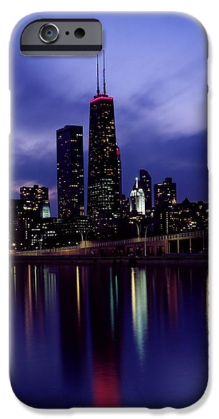 Willis Tower iPhone Cases - An Evening in Chicago iPhone Case by Mountain Dreams